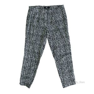{ABS PLATINUM} Flowy Crosshatch Pattern Pants