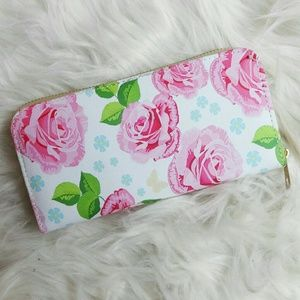 NWOT Painted Rose Wallet