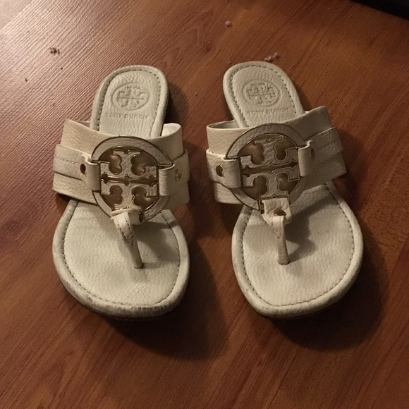 852f8cf58 Tory Burch Amanda White Gold Leather Logo Sandals.  M 59f15ec299086a545b0239d3. Other Shoes you may like