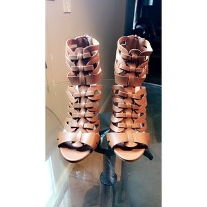 Tan Strappy Heels!!