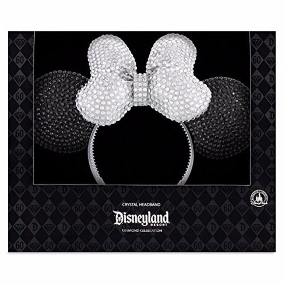 dfccd1e8ed9cb Disneyland Diamond Celebration Minnie Mouse Ears NWT