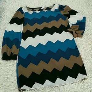 2/$10⚡Chevron Swing Dress