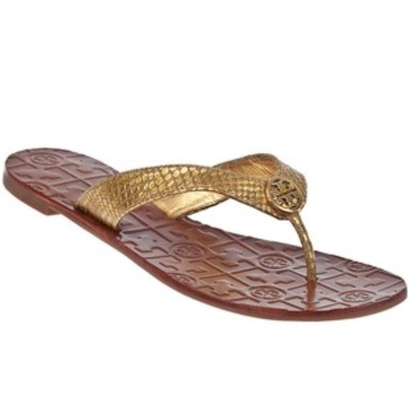 dce955362b35 Tory Burch Shoes - Tory Burch  Thora  Logo Thong Sandal