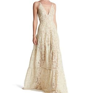 Dress the Population Melina Fit and Flare Maxi