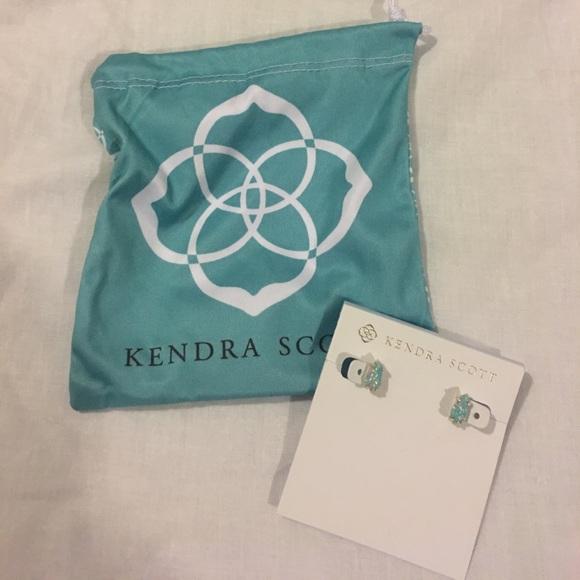 b66336635 Kendra Scott Jewelry | Jillian Stud Earrings In Aqua Kyocera Opal ...