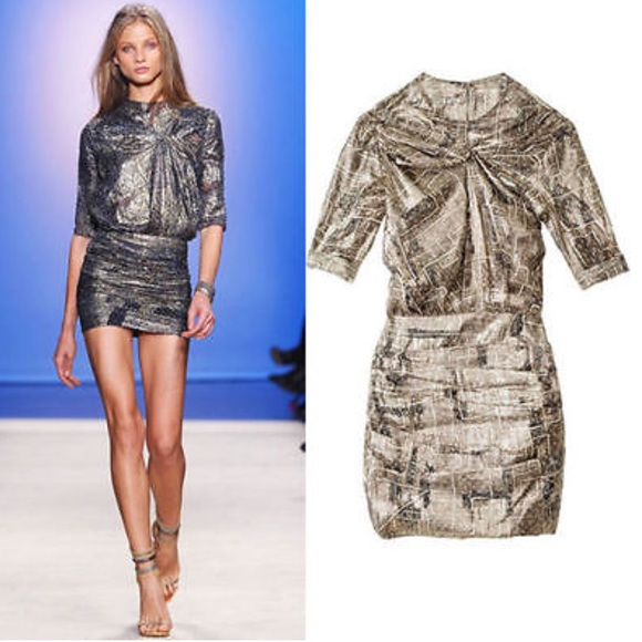 a00ec268c411 Isabel Marant pour H&M Dresses | Isabel Marant For Hm Gold Dress ...