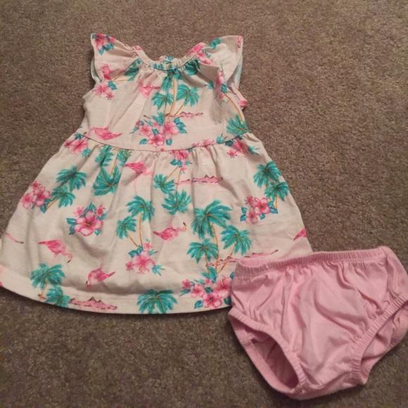 dc666368e Carter's Dresses   Carters Hawaiian Floral And Flamingo Dress   Poshmark