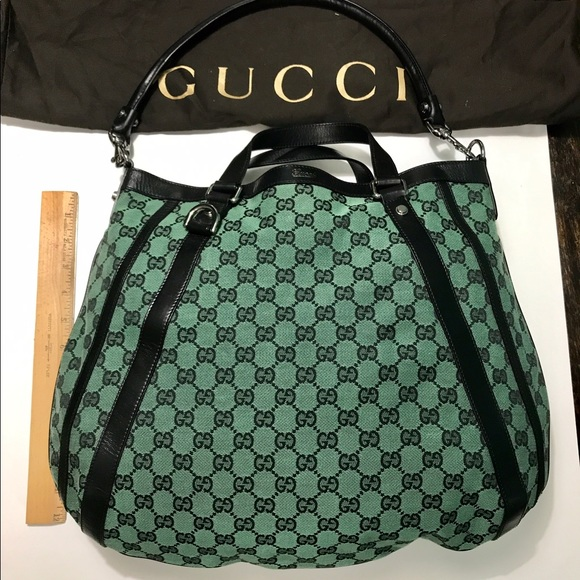 a11b3d822dcea6 Gucci Bags | Authentic Abbey Monogram Hobo Bag | Poshmark