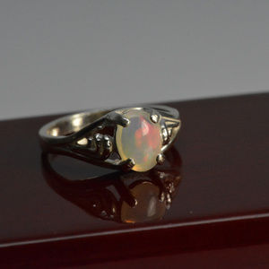Jewelry - Sterling silver ring natural opal size 7 NEW