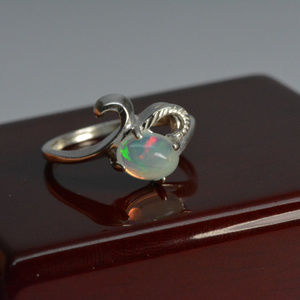 Jewelry - Opal ring Natural gemstone ring size 7 sterling