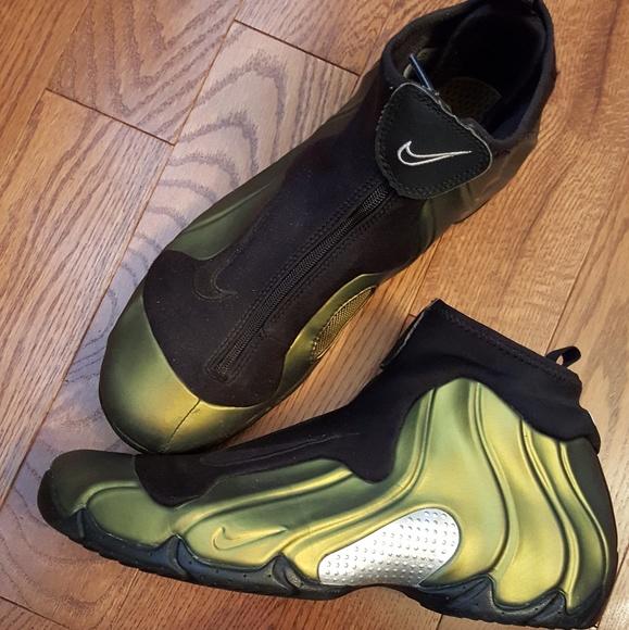 new styles 1e07e bbf1d Vtg. Nike Flightposite metallic gold green goblin.  M 59f1729bf739bc4e66026f14