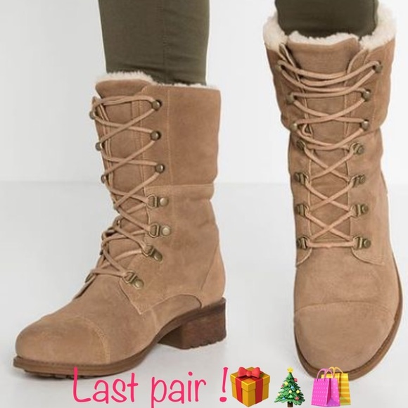 e443f2052fd New Ugg Gradin laced up Suede leather boots Sz 11 NWT