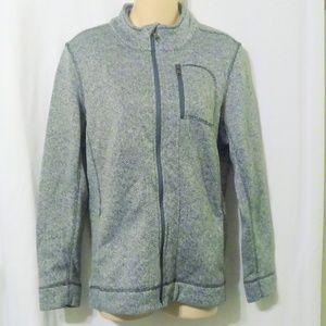 Marc New York Herringbone Zip Front Sweatshirt *