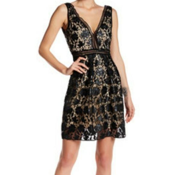 Aqua Dresses Bloomingdales Lace Illusion Cocktail Dress Poshmark