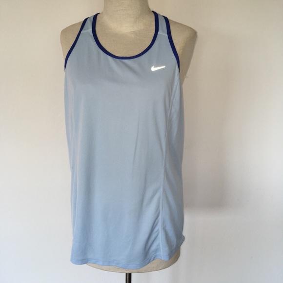 dbace950 NIKE ~ women's blue & orange mesh dri fit tank top.  M_59f17ba37fab3aec9402967d