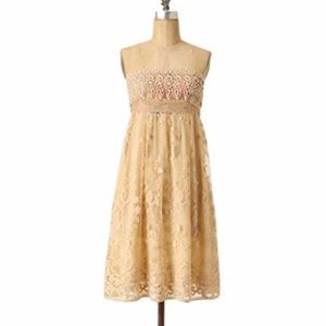 Anthropologie Zehavale Oblique Blooms Lace Dress