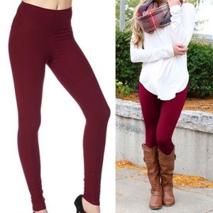 HOT🎄 high waisted burgundy leggings super soft