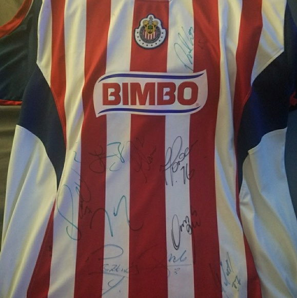 sports shoes e4bac 353fe Signed official Chivas Jersey