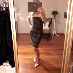 Dress. Strapless Plaid. Sarah Jessica Parker Sz 6
