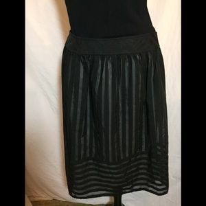 Cynthia Steffe- 2 layer sheer striped skirt