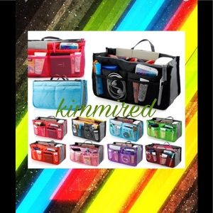 ⤵️🆕Black or Red or Green Purse/Bag Organizer ~NIP