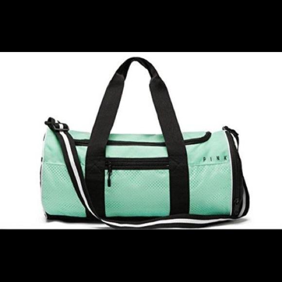 PINK Victoria s Secret Bags   Vs Pink Tourmaline Blue Sport Duffle ... c926d9bbf8
