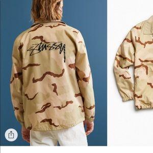 stussy camo jacket