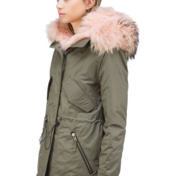 1b8b43235ed2 SAM Hudson parka with pink fur trimmed hood