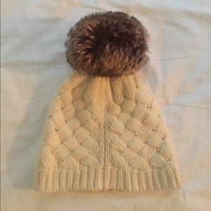 238f14728de8e J. Crew Factory Accessories - J. Crew Knit Beanie Hat w  Faux Fur