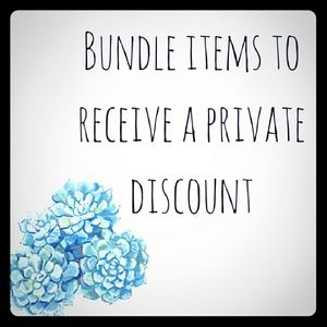 Other - Bundle items to receive a special discount from me