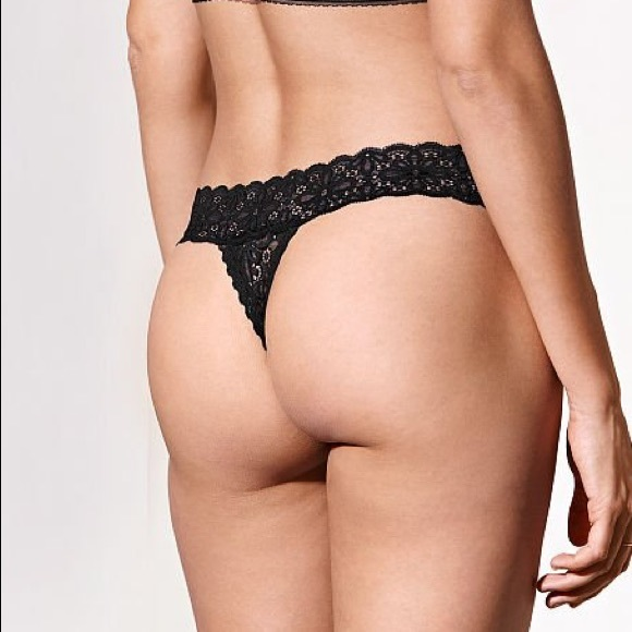 76bee8cf4 New Victoria s Secret LACIE Daisy Lace Thong Panty