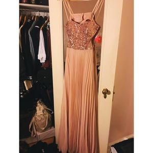 Baby Pink Prom Dress/Long Gown