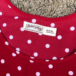 Faded Glory Tops - Faded Glory Red a Polka Dot Tank Top