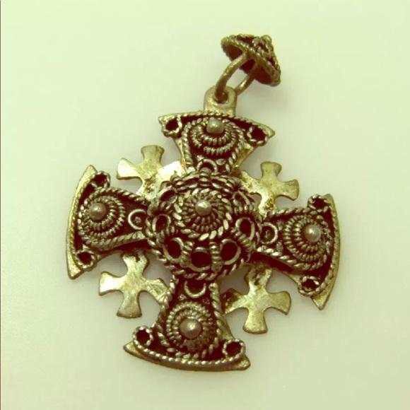 Jewelry 950 silver religious relic jerusalem cross pendant poshmark 950 silver religious relic jerusalem cross pendant aloadofball Images