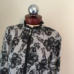 joseph ribkoff Jackets & Coats - JOSEPH RIBKOFF Jacket Lace print Zip front 14