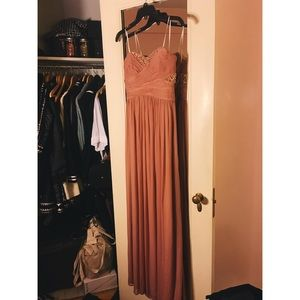 Pink Strapless Prom Dress/Gown