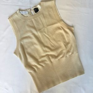 Charles Nolan New York Sweaters - Charles Nolan | cashmere front silk back tank