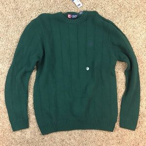 NWT Chaps Green Knit Sweater