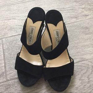 Jimmy Choo Black Studded Heels