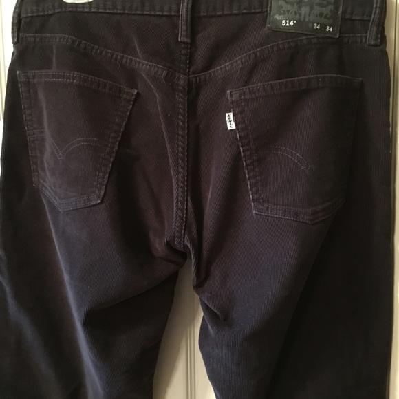 666fab64 Levi's Pants | Levis 514 Straight Black Corduroys Mens 34 X 34 ...