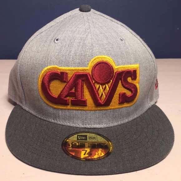 164ddf64aaf New Era Cleveland Cavaliers Fitted Hat Size 7 1 8