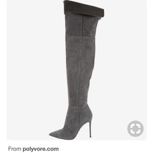 Shoes - Over the knee pointed toe boots don't have the box