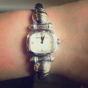 david yurman watch mother of pearl diamond face