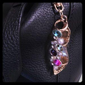 Gemstone, pearl and Crystal purse charm 9b59c2af6d