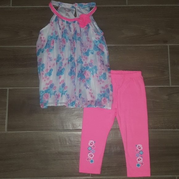 faaf523a9ed6 Nannette Toddler Girls' 2-pc. Floral Tunic & Capri.  M_59f20eaa6d64bc04650143df