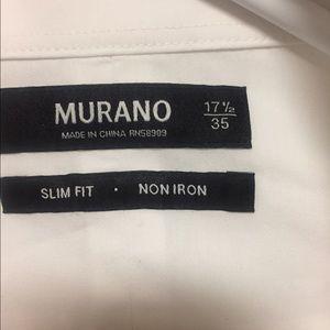 MURANO Slim Fit Non Iron White Dress Shirt