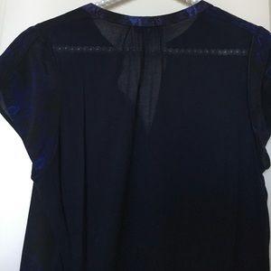 Aritzia Tops - Babaton by Aritzia Dark Blue Silk Top