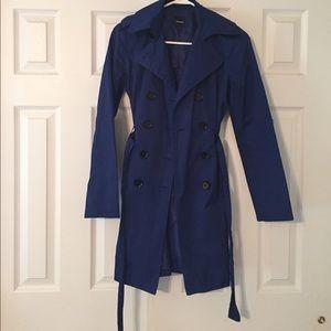 Blue size xs Express light peacoat jacket!