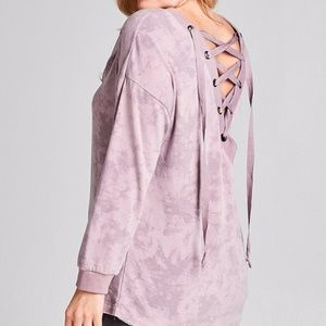 Tops - PLUS--Adrianna Front or Back Top-Lavender