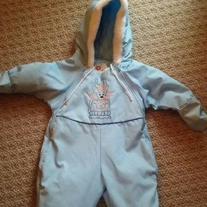 EUC Casual Time brand Baby Snowsuit 12 Month Size